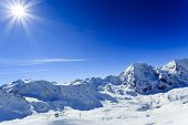 stock photo of italian alps  - Winter mountains - JPG