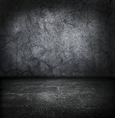 foto of stonewalled  - Dark old stone room - JPG