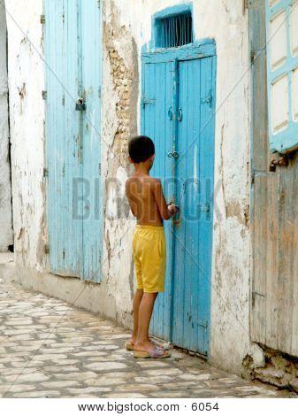Boy Locking Door poster