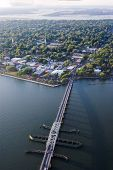 aerial view of downtown beaufort, south carolina