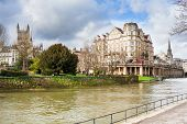 picture of avon  - River Avon at Bath England UK Europe - JPG