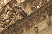 Closeup Of Gothic Barcelona (catalunya, Spain)