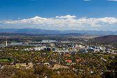 View over Canberra CBD