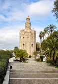 Gold Tower, A Dodecagonal Military Watchtower In Seville (spain)