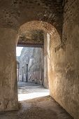 Arched Doorway In Ancient Pompeii