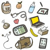 An image of a set of mobile related items.