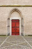 Entrance Door Of Saint Walburg Church
