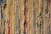 Pattern and texture of woven rug