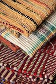 Colorful pattern and texture of area rugs