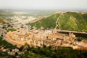 VIew of Amber forth at Jaipur in Rajasthan, North of India