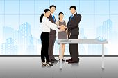 Business deal with businesspeople