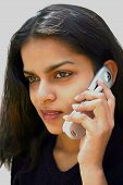 Indian Female On The Phone