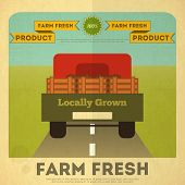 stock photo of truck farm  - Farm Organic Food Poster - JPG