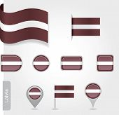 Latvian flag icon