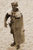 Jordanian men dress as Roman soldier