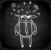Cute Hand Drawn Vector illustration, Vintage Blackboard Texture Background. Chalkboard illustration variant.