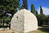 Borie or dry-stone hut in Gordes, Provence, France.