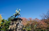 Statue Of Warrior On Horse In Ueno District, Tokyo