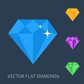 Flat diamonds