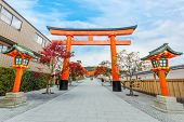 Torii gate at Fushimi Inari-taisha shrine in Kyoto