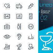 Medical and Healthcare outline icons