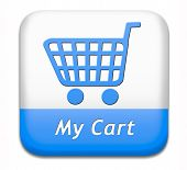 my cart button placing shopping order at online webshop, internet web shop icon