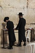 Prayer at Western Wall
