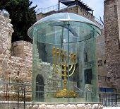 Golden Menorah In Jerusalem, Israel
