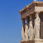 Caryatids erechtheion temple Acropolis Athens Greece