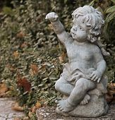 statue of a small angel