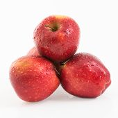 Pile Of Red Delicious Apples In Flyer-like Picture