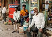 Bustling Street In India