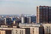 Urban Skyline Of Residential Quarters In Big City