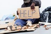 Homeless Man Asking For A Help