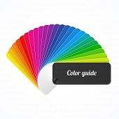 Color palette guide, fan, catalogue. Vector.