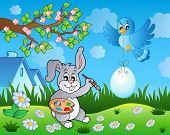 Easter bunny topic image 7 - eps10 vector illustration.