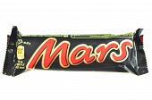 Mars chocolate bar isolated on white background