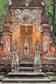 Gate Of Temple With Ornaments. Indonesia, Bali