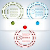 Infographic Design With Color Ribbons