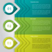 Infographic Design With Glossy Pointers