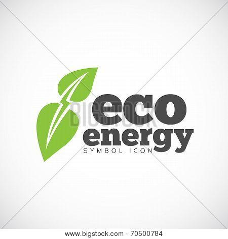 Eco Energy Vector Concept Symbol