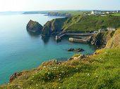 Beautiful Bay Of Mullion Cove, Cornish Coast, South England