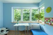 Bright Blue Room