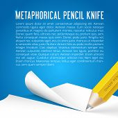 Abstract Vector Background Metaphorical Pencil Stationary Knife
