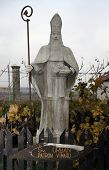 Statue of St. Urban - the patron saint of winemakers