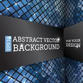 Perspective Rhombus Abstract Vector Background