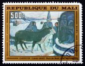Postage Stamp Mali 1980 Christmas Night, By Gauguin