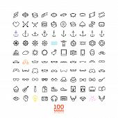 100 hipster line icon set! wow! all you need!