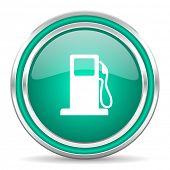petrol green glossy web icon