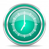 time green glossy web icon